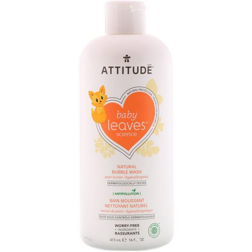 ATTITUDE, Baby Leaves Science, Natural Bubble Wash, Pear Nectar, 16 fl oz (473 ml) Review
