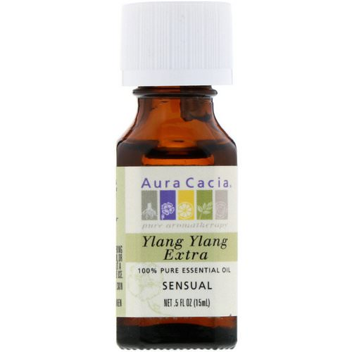 Aura Cacia, 100% Pure Essential Oil, Ylang Ylang Extra, .5 fl oz (15 ml) Review