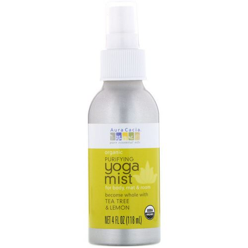 Aura Cacia, Organic, Yoga Mist, Purifying, Tea Tree & Lemon, 4 fl oz (118 ml) Review