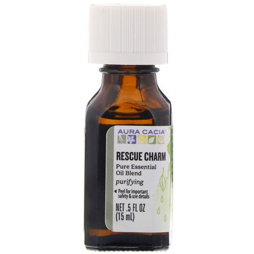 Aura Cacia, Pure Essential Oil Blend, Rescue Charm, .5 fl oz (15 ml) Review
