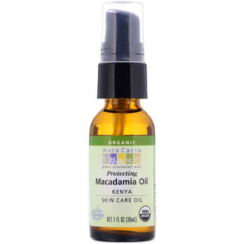 Aura Cacia, Pure Essential Oil, Organic Natural Skin Care, Macadamia Oil, 1 fl oz (30 ml) Review