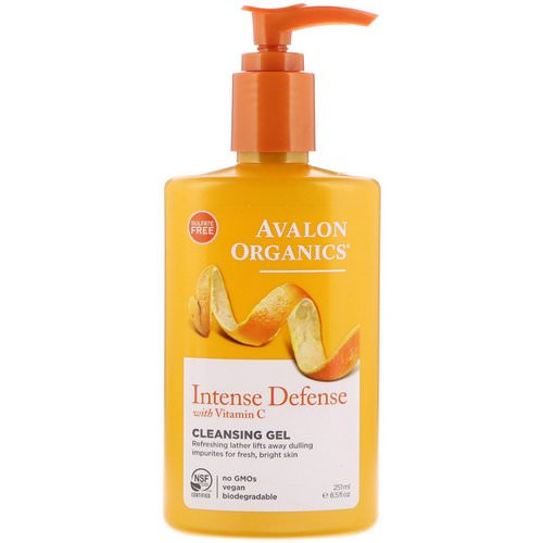 Avalon Organics, Intense Defense with Vitamin C, Cleansing Gel, 8.5 fl oz (251 ml) Review