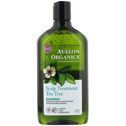 Avalon Organics, Shampoo, Scalp Treatment, Tea Tree, 11 fl oz (325 ml) Review