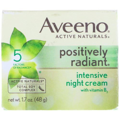 Aveeno, Active Naturals, Positively Radiant, Intensive Night Cream, 1.7 oz (48 g) Review