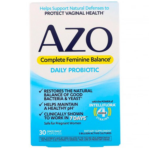 Azo, Complete Feminine Balance, Daily Probiotic, 30 Once Daily Capsules Review