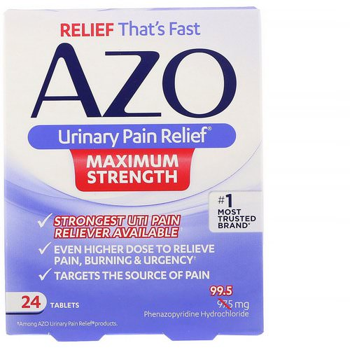 Azo, Urinary Pain Relief, Maximum Strength, 24 Tablets Review