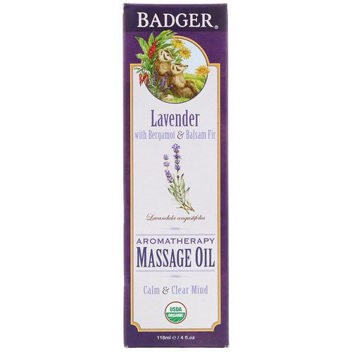 Badger Company, Aromatherapy Massage Oil, Lavender with Bergamot & Balsam Fir, 4 fl oz (118 ml) Review