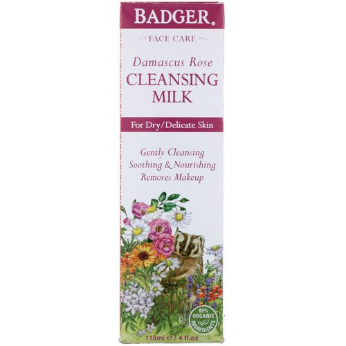 Badger Company, Damascus Rose, Cleansing Milk, 4 fl oz (118 ml) Review