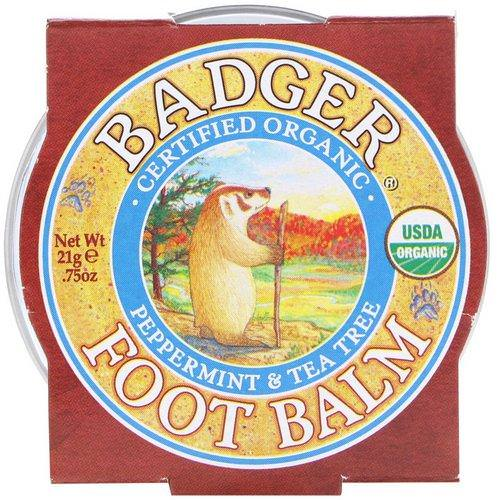 Badger Company, Organic, Foot Balm, Peppermint & Tea Tree, .75 oz (21 g) Review