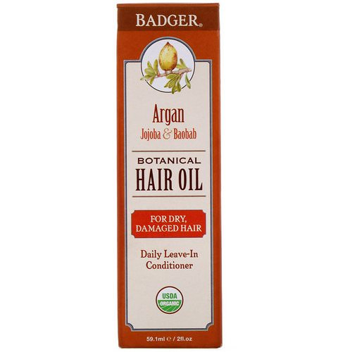 Badger Company, Organic, Botanical Hair Oil, Argan, Jojoba & Baobab, 2 fl oz (59.1 ml) Review