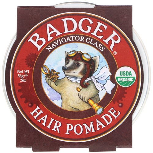 Badger Company, Organic, Hair Pomade, Navigator Class, 2 oz (56 g) Review