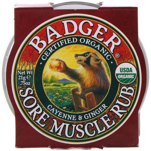 Badger Company, Sore Muscle Rub, Cayenne & Ginger, .75 oz (21 g) Review