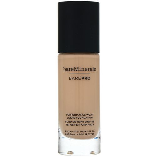 Bare Minerals, BAREPRO, Performance Wear, Liquid Foundation, SPF 20, Golden Nude 13, 1 fl oz (30 ml) Review