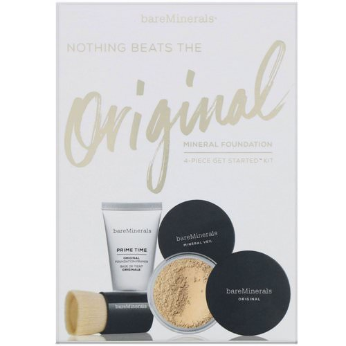 Bare Minerals, Nothing Beats the Original Mineral Foundation, 4 Piece Get Started Kit, Fairly Light 03, 1 Kit Review