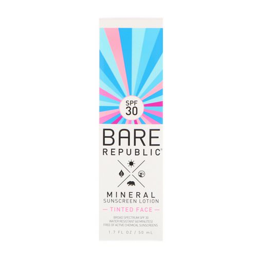 Bare Republic, Mineral Sunscreen Lotion, Tinted Face, SPF 30, 1.7 fl oz (50 ml) Review
