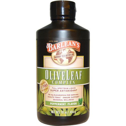 Barlean's, Olive Leaf Complex, Peppermint Flavor, 16 oz (454 g) Review
