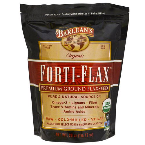 Barlean's, Organic, Forti-Flax, Premium Ground Flaxseed, 28 oz (1 lb 12 oz) Review