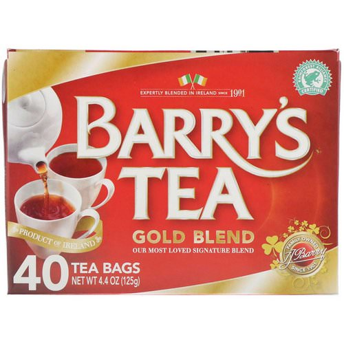 Barry's Tea, Gold Blend, 40 Tea Bags, 4.4 oz (125 g) Review
