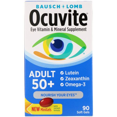 Bausch & Lomb, Ocuvite, Adult 50+, Eye Vitamin & Mineral Supplement, 90 Soft Gels Review