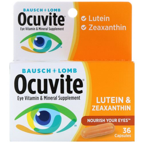 Bausch & Lomb, Ocuvite, Lutein & Zeaxanthin, 36 Capsules Review