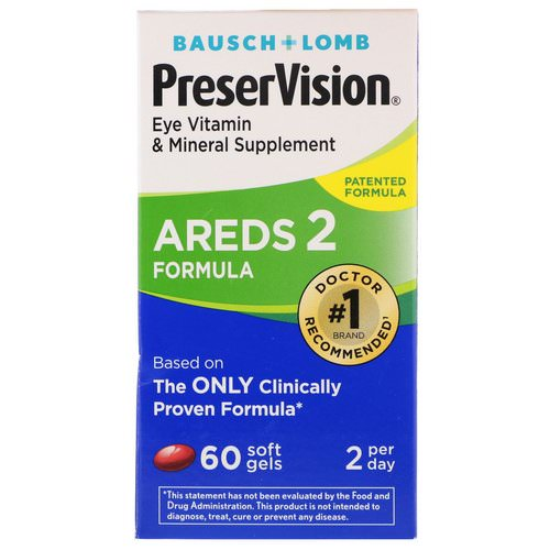 Bausch & Lomb, PreserVision, AREDS 2 Formula, 60 Soft Gels Review