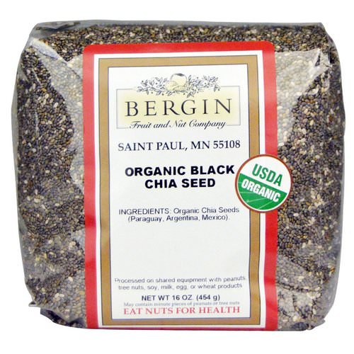 Bergin Fruit and Nut Company, Organic Black Chia Seed, 16 oz (454 g) Review
