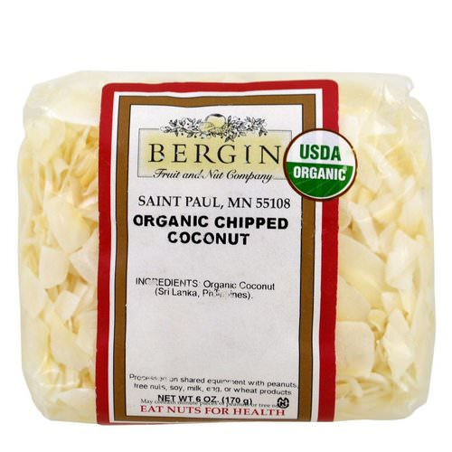 Bergin Fruit and Nut Company, Organic Chipped Coconut, 6 oz (170 g) Review