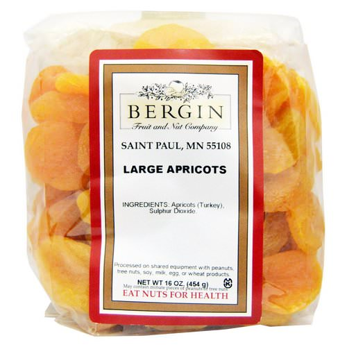 Bergin Fruit and Nut Company, Turkish Jumbo Apricots, 16 oz Review