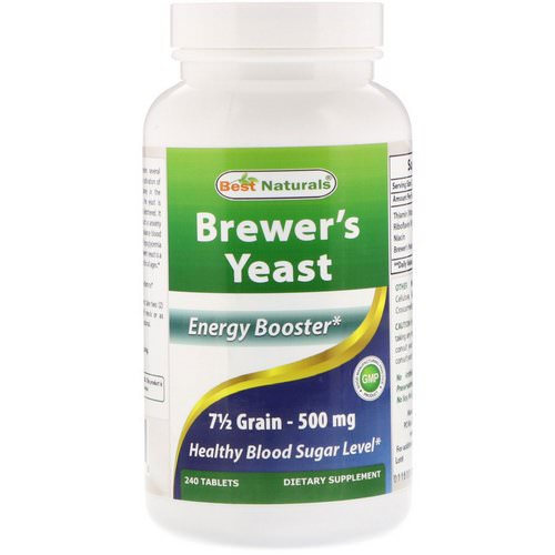 Best Naturals, Brewer's Yeast, 500 mg, 240 Tablets Review