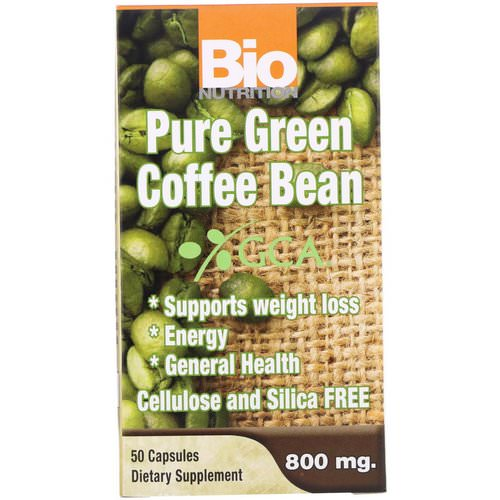 Bio Nutrition, Pure Green Coffee Bean, 800 mg, 50 Capsules Review