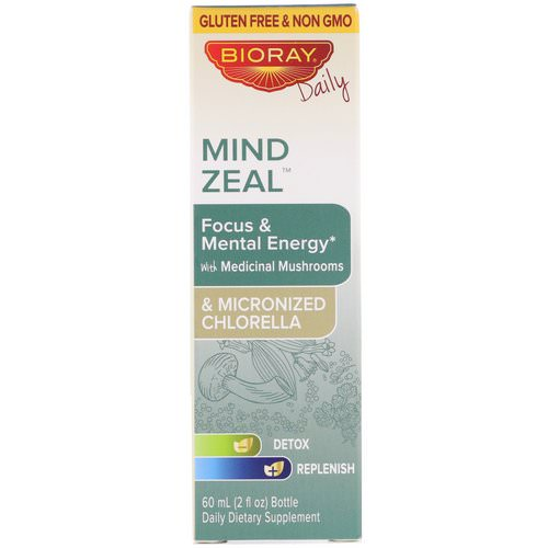 Bioray, Mind Zeal, Focus & Mental Energy, Alcohol Free, 2 fl oz (60 ml) Review