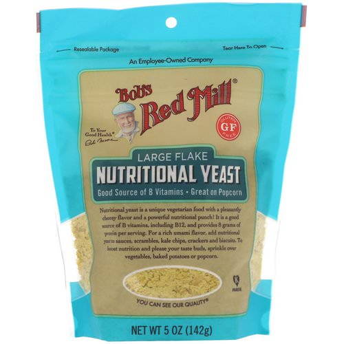 Bob's Red Mill, Large Flake Nutritional Yeast, Gluten Free, 5 oz (142 g) Review