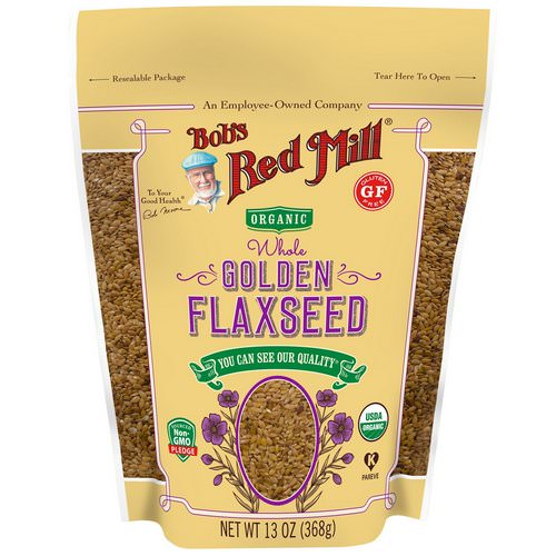 Bob's Red Mill, Organic Whole Golden Flaxseed, 13 oz (368 g) Review