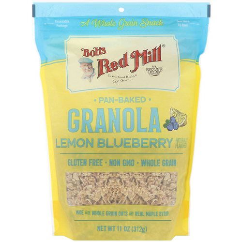 Bob's Red Mill, Pan-Baked Granola, Lemon Blueberry, 11 oz (312 g) Review