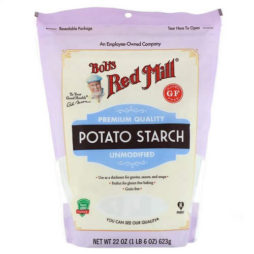 Bob's Red Mill, Potato Starch, Unmodified, Gluten Free, 22 oz (623 g) Review