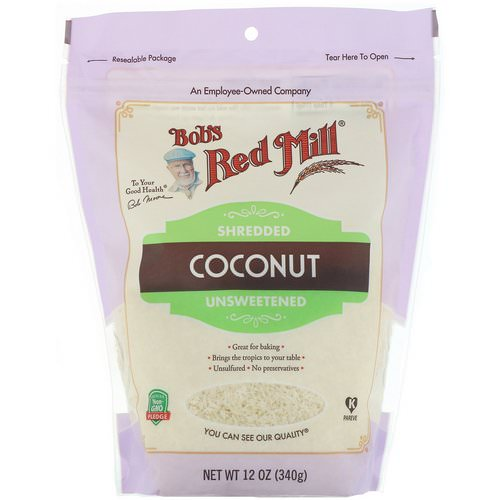 Bob's Red Mill, Shredded Coconut, Unsweetened, 12 oz (340 g) Review