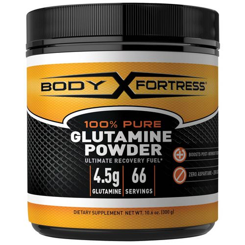 Body Fortress, 100% Pure Glutamine Powder, 10.6 oz (300 g) Review