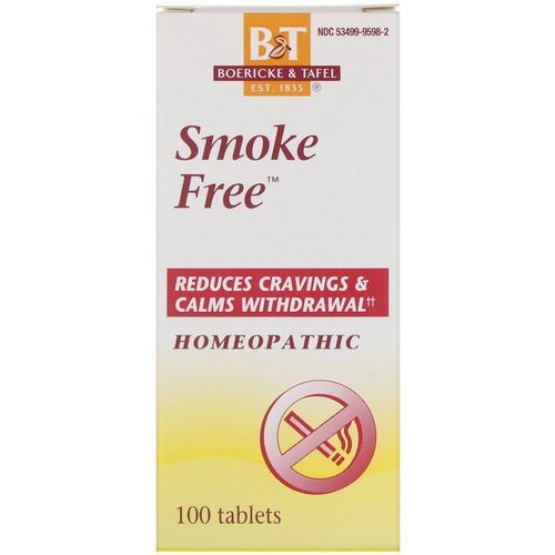 Boericke & Tafel, Smoke Free, 100 Tablets Review