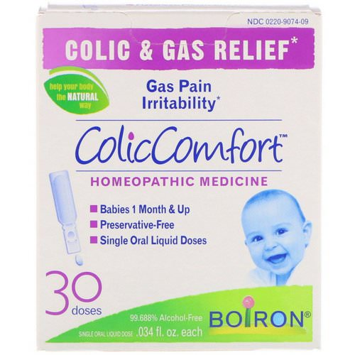 Boiron, ColicComfort, Colic & Gas Relief, 30 Doses, .034 fl oz Each Review