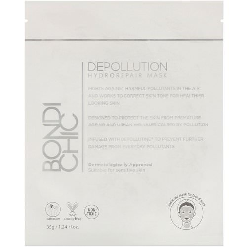 Bondi Chic, Depollution, Hydro-Repair Mask, 1 Sheet, 1.24 fl oz (35 g) Review