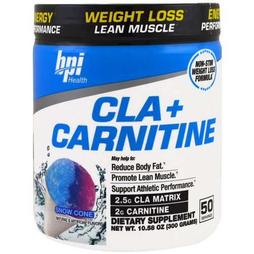 BPI Sports, CLA + Carnitine, Snow Cone, 10.58 oz (300 g) Review