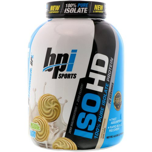 BPI Sports, ISO HD, 100% Pure Isolate Protein, Vanilla Cookie, 4.8 lbs (2170 g) Review