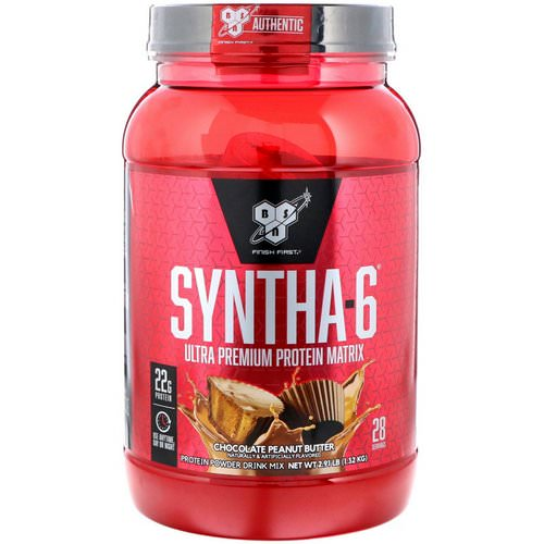 BSN, Syntha-6, Ultra Premium Protein Matrix, Chocolate Peanut Butter, 2.91 lbs (1.32 kg) Review