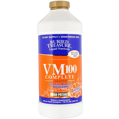 Buried Treasure, Liquid Nutrients, VM100 Complete, Orange Zest, 32 fl oz (946 ml) Review