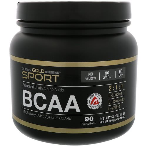 California Gold Nutrition, BCAA Powder, AjiPure®, Branched Chain Amino Acids, 16 oz (454 g) Review