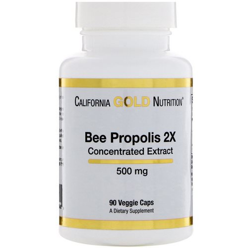 California Gold Nutrition, Bee Propolis 2X, Concentrated Extract, 500 mg, 90 Veggie Caps Review