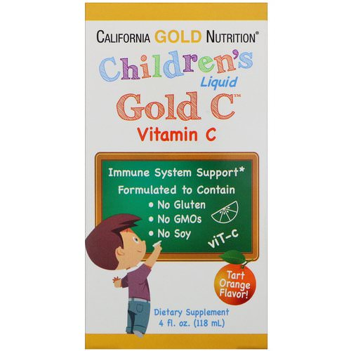 California Gold Nutrition, Children's Liquid Gold Vitamin C, USP Grade, Natural Orange Flavor, 4 fl oz (118 ml) Review