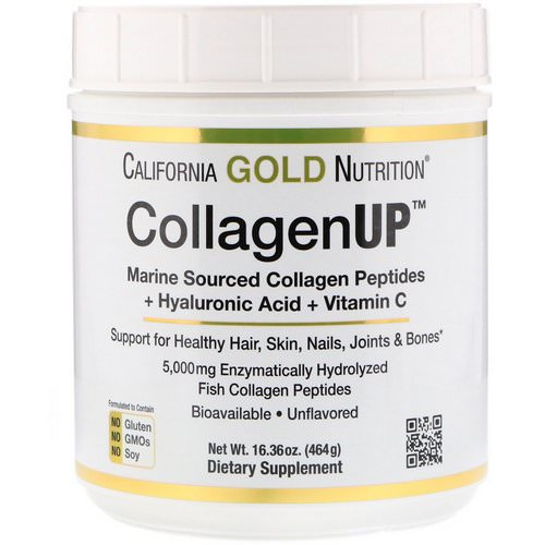 California Gold Nutrition, CollagenUP, Marine Collagen + Hyaluronic Acid + Vitamin C, Unflavored, 16.36 oz (464 g) Review