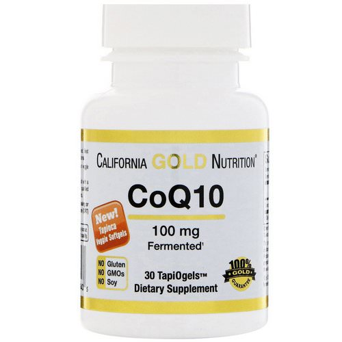 California Gold Nutrition, CoQ10, 100 mg, 30 Veggie Softgels Review