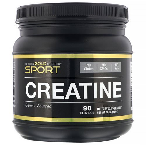 California Gold Nutrition, Creatine Monohydrate, Unflavored, 16 oz (454 g) Review